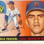 Pascual, Camilo 1955 Topps